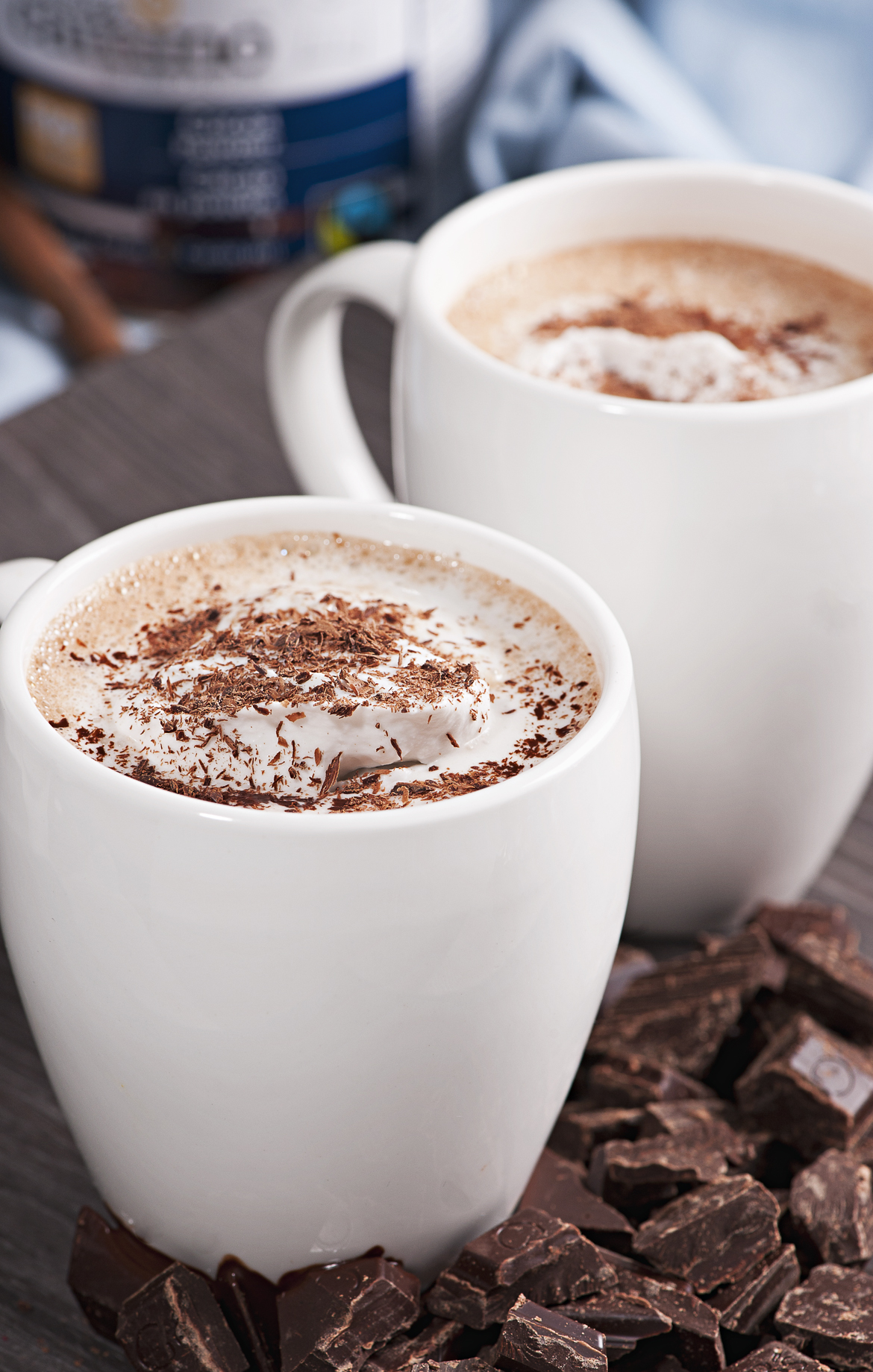 "Organic Hot Chocolate with Coconut ""Whip Cream"""